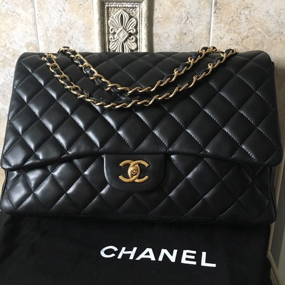 c06f27a5adca CHANEL Handbags - Chanel Maxi Single Flap Lambskin GHW Shoulder Bag